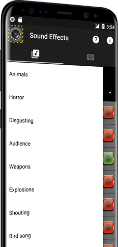 Sound Effects for Android (left)